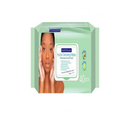 NIGHTINGALE - FACIAL CLEANSING WIPES ( WITH TEA TREE OIL & WITCH HAZEL) - 40 WIPES