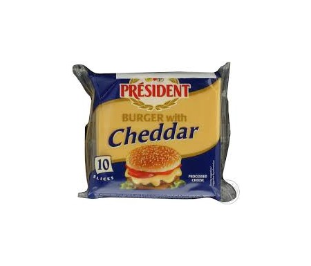 PRESIDENT BURGER WITH CHEDDAR 200G